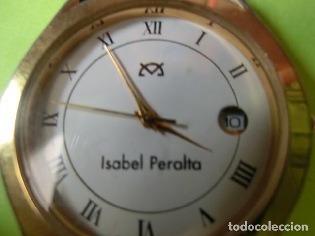 Vintage: RELOJ NOMBRE: ISABEL PERALTA. SILVANA. SWISS PARTS QUARZ, 5 MICRON GOLD PLATED. FUNCIONANDO. - Foto 2 - 119643407