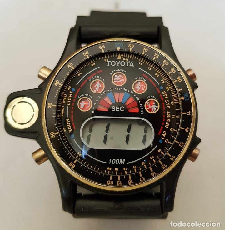 RELOJ TOYOTA, C1990 (NOS) NUEVO (Relojes - Relojes Vintage )