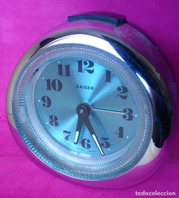 Vintage: Reloj despertador vintage Kaiser Western Germany plástico - Foto 6 - 124405939