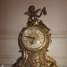 Vintage: RELOJ DE BRONCE CON ANGEL, EN MUY BUEN ESTADO FUNCIONA PERFECTAMENTE,. Lote 124491187