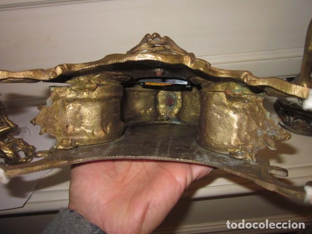 Vintage: reloj de bronce con angel, en muy buen estado funciona perfectamente, - Foto 5 - 124491187
