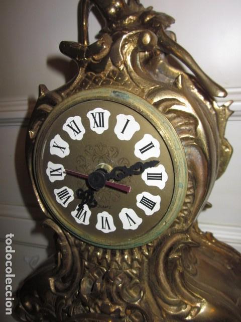 Vintage: reloj de bronce con angel, en muy buen estado funciona perfectamente, - Foto 7 - 124491187