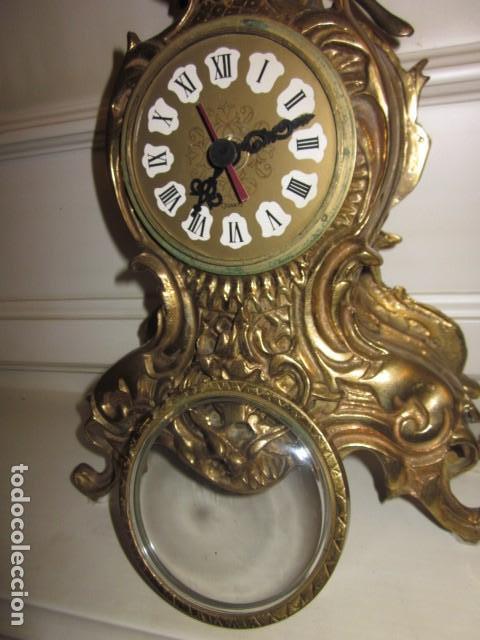 Vintage: reloj de bronce con angel, en muy buen estado funciona perfectamente, - Foto 8 - 124491187