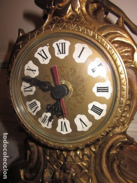 Vintage: reloj de bronce con angel, en muy buen estado funciona perfectamente, - Foto 9 - 124491187