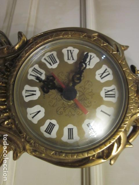 Vintage: reloj de bronce con angel, en muy buen estado funciona perfectamente, - Foto 11 - 124491187