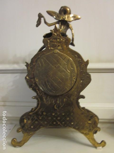 Vintage: reloj de bronce con angel, en muy buen estado funciona perfectamente, - Foto 12 - 124491187