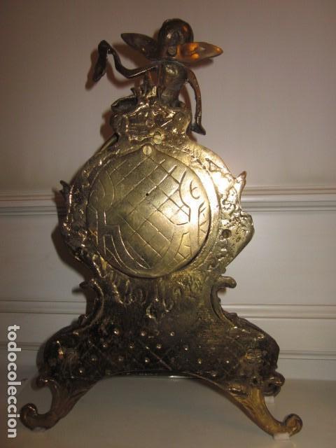 Vintage: reloj de bronce con angel, en muy buen estado funciona perfectamente, - Foto 13 - 124491187