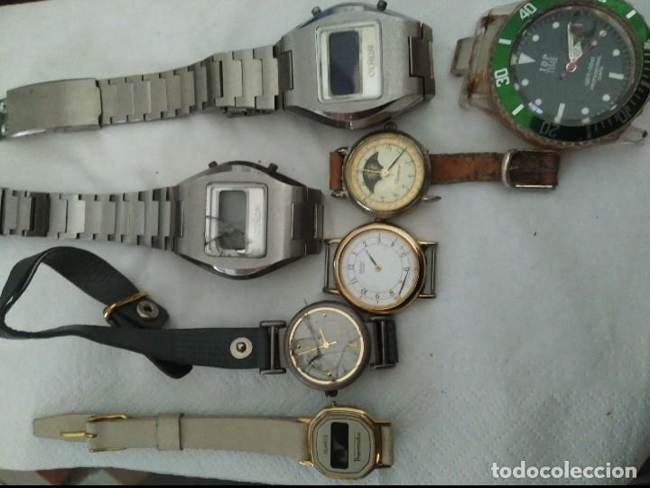 7 RELOJES AVERIADOS PARA PIEZAS SEIKO, OLIMPUS ,OTRON,THERMIDOR ,TOP TIME (Relojes - Relojes Vintage )