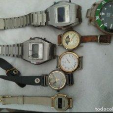 Vintage: 7 RELOJES AVERIADOS PARA PIEZAS SEIKO, OLIMPUS ,OTRON,THERMIDOR ,TOP TIME. Lote 125142611