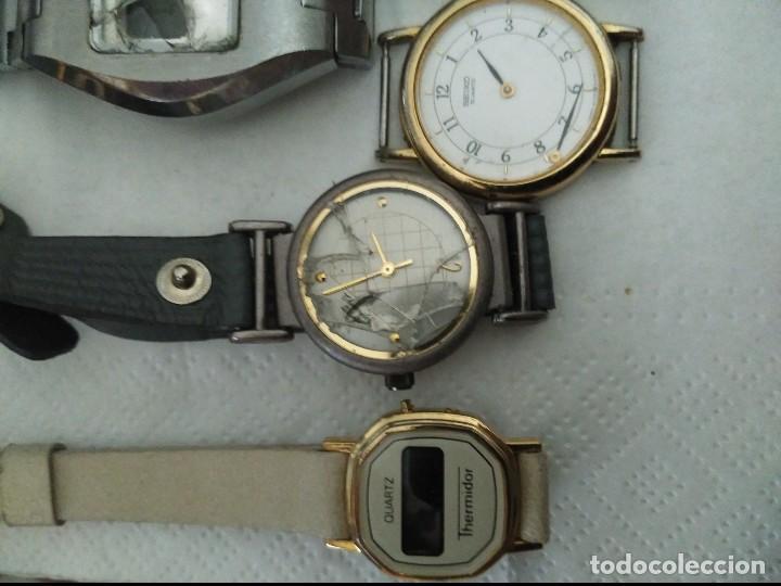 Vintage: 7 relojes averiados para piezas seiko, olimpus ,otron,thermidor ,top time - Foto 2 - 125142611