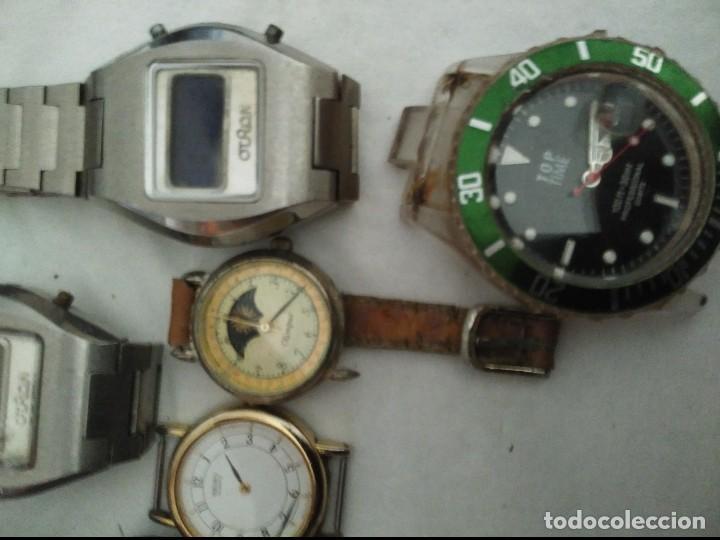 Vintage: 7 relojes averiados para piezas seiko, olimpus ,otron,thermidor ,top time - Foto 3 - 125142611