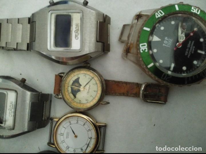 Vintage: 7 relojes averiados para piezas seiko, olimpus ,otron,thermidor ,top time - Foto 4 - 125142611