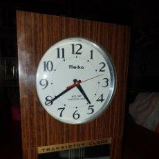 Vintage: RELOJ DE PARED MEIKO TRANSISTOR CLOCK. Lote 126140923