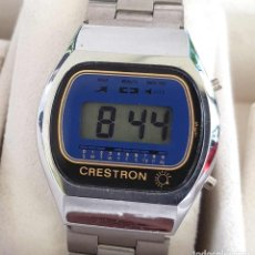 Vintage: RELOJ CRESTRON DIGITAL VINTAGE, NOS (NEW OLD STOCK). Lote 126284387