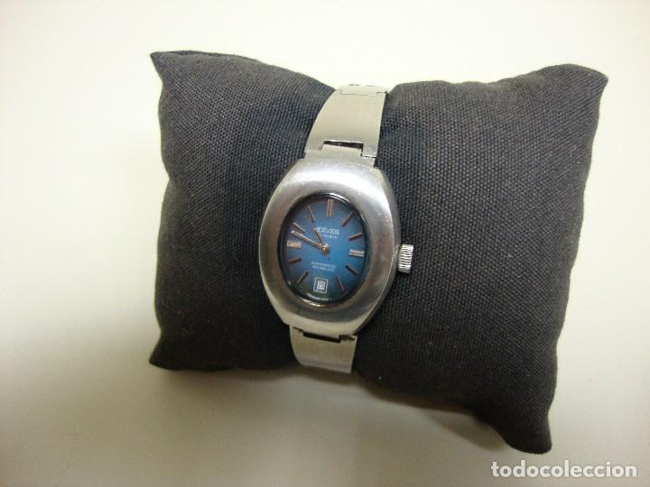 918- RELOJ MUJER SAVAR 21 RUBIS AUTOMATIC INCABLOC SWISS MADE WATERPROOF (Relojes - Relojes Vintage )