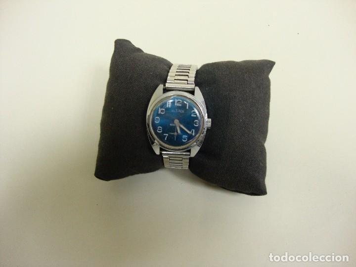 918- ANTIGUO RELOJ ALSACE SHOCK PROOF BACK ANTIMAGNETIC (Relojes - Relojes Vintage )