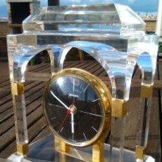 Vintage Uhren - RELOJ SOBREMESA STAYGER METACRILATO TRANSPARENTE - 128923763