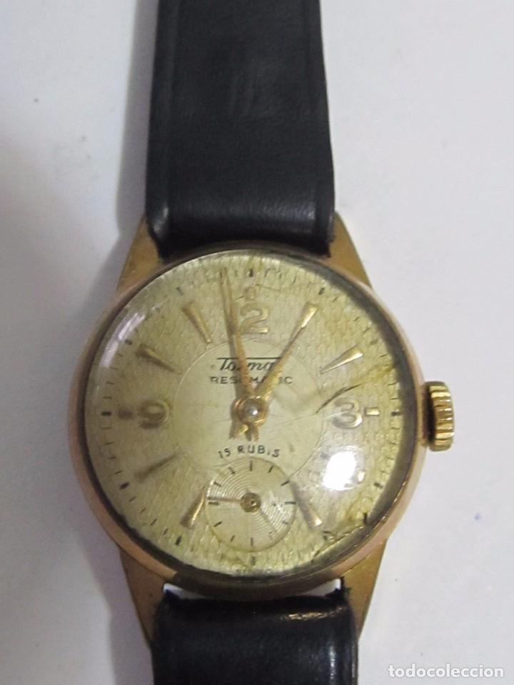 RELOJ VINTAGE TORMAS DE CARGA MANUAL 15 RUBIS - EN FUNCIONAMIENTO (Relojes - Relojes Vintage )
