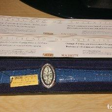 Vintage: RELOJ QUARZO CON SVAROVSKI CRYSTAL MADE SWISS HACHETTE. Lote 131030972
