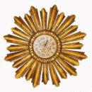 Vintage: GENIAL MARCO SOL IDEAL ESPEJO VINTAGE MADERA TALLADA PAN DE ORO ANTIGUO ORIGINAL. Lote 133578266