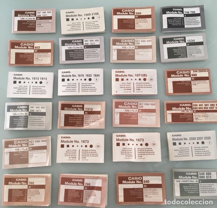 LOTE 24 MANUALES DE RELOJES CASIO VINTAGE (Relojes - Relojes Vintage )