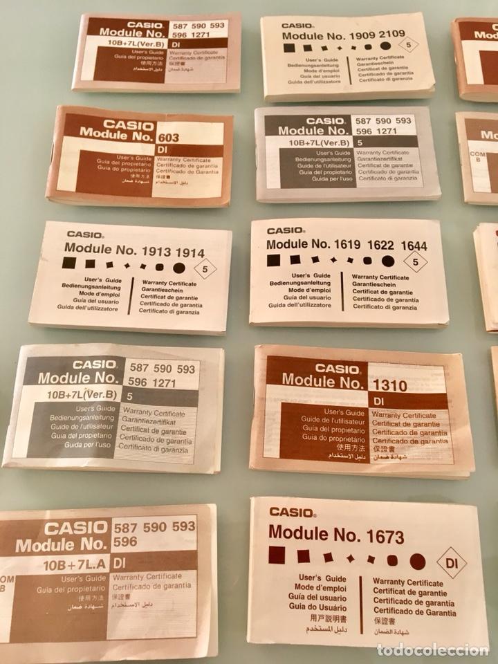 Vintage: Lote 24 manuales de relojes Casio Vintage - Foto 2 - 134012603