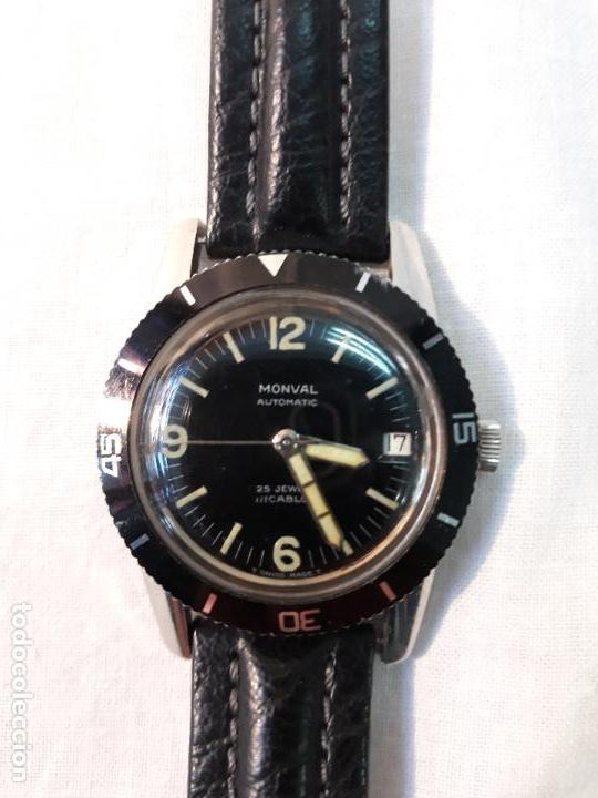MONVAL 60S VINTAGE CINCUENTA BRAZAS ESTILO DIVERS WATCH AUTOMÁTICO ACERO. (Clocks and Watches - Vintage Watches and Clocks)