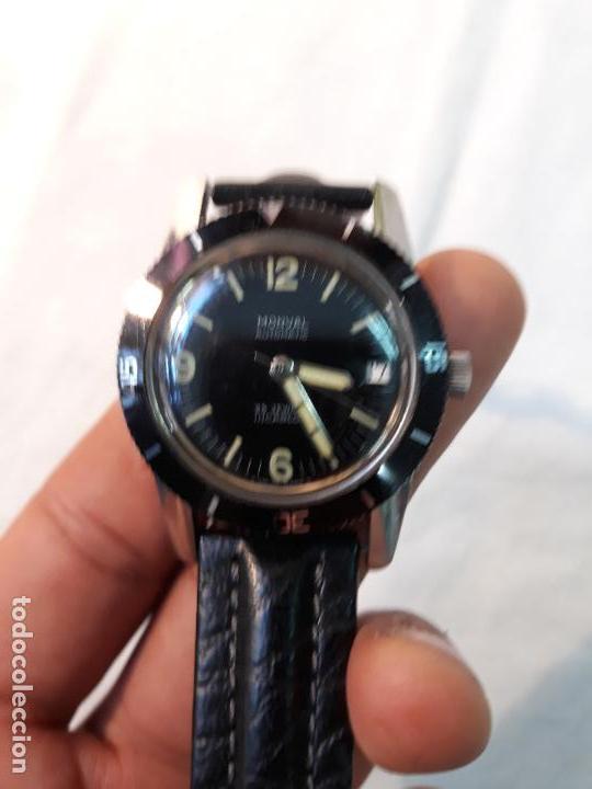 Vintage Watches: Monval 60s Vintage cincuenta brazas estilo Divers Watch Automático Acero. - Foto 4 - 134782346