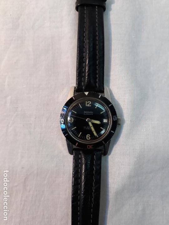 Vintage Watches: Monval 60s Vintage cincuenta brazas estilo Divers Watch Automático Acero. - Foto 5 - 134782346