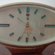 Vintage: RELOJ DESPERTADOR RETRO DE SOBREMESA, POLARIS ,AÑOS 80. Lote 137424780