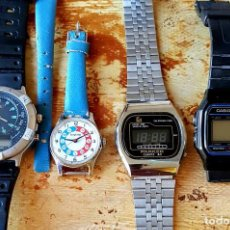 Vintage: LOTE 4 RELOJES, SEIKO, CASIO, PARKER, TINETIME, C1980. Lote 138817142