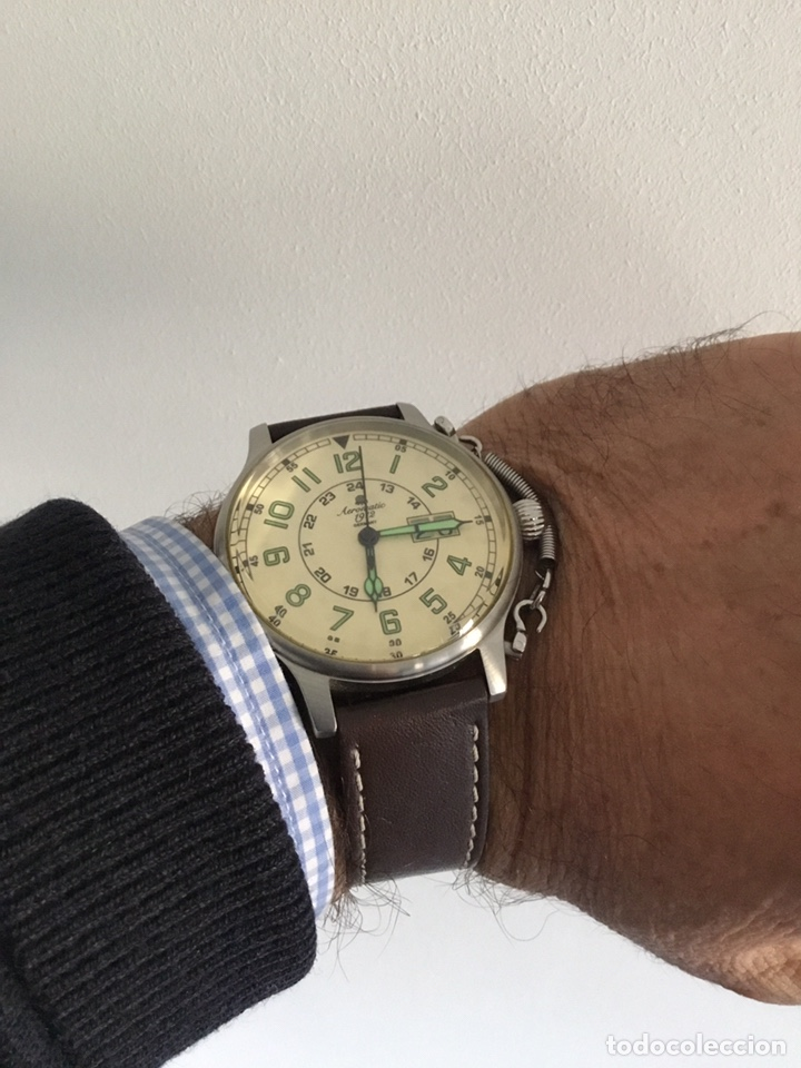 Vintage: AEROMATIC 1912 Germany. Reloj de pulsera Vintage. - Foto 11 - 138897164