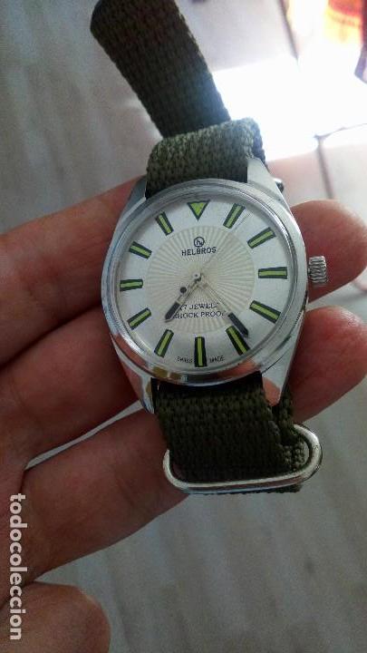RELOJ VINTAGE SUIZO HELBROS DEPORTIVO CUERDA . SALIDA 9,99 EUROS. . (Relojes - Relojes Vintage )