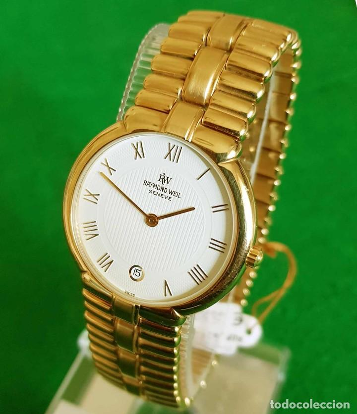 RELOJ RAYMOND WEIL GENEVE 9154, ELECTROPATED 18K, NOS (NEW OLD STOCK) VINTAGE (Relojes - Relojes Vintage )