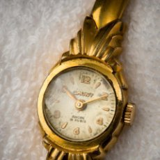 Vintage: VINTAGE WATCH CAUNY PRIMA ANCRE 15 RUBIS PLAQUE OR 10 MICRONS. Lote 142140294
