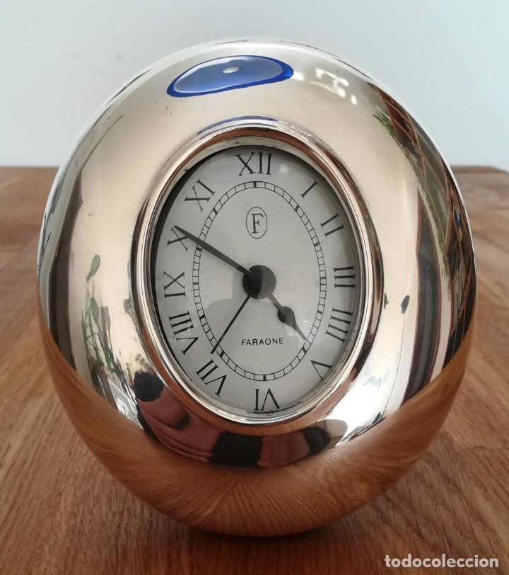 RELOJ VINTAGE DE MESA DE PLATA DE LA FIRMA FARAONE (Relojes - Relojes Vintage )