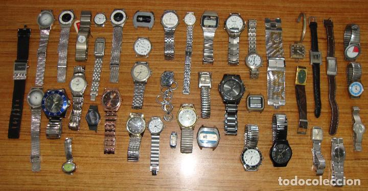 LOTE 42 RELOJES DUWARD DKNY THERMIDOR LUCERNE LOTUS TITAN LOTUS CASIO EDOX SWATCH Y MAS VER FOTOS (Relojes - Relojes Vintage )