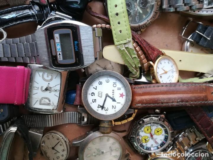 Vintage: Lote de unos 95 relojes diferentes marcas - Foto 2 - 147939166