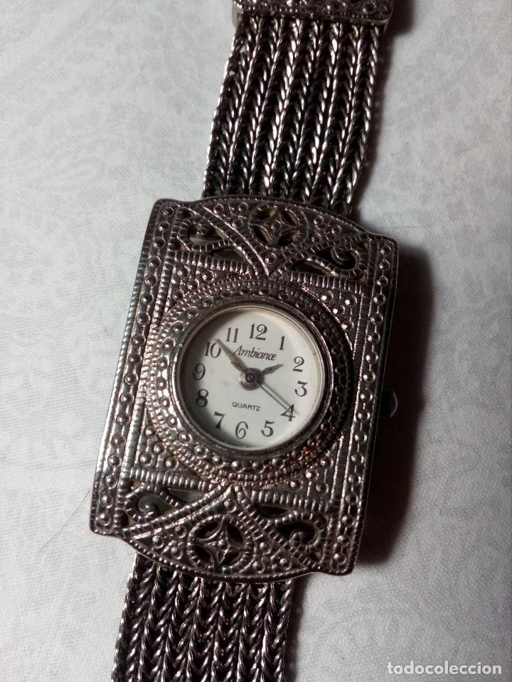 RELOJ AMBIANCE QUARTZ - METAL CROMADO - (Relojes - Relojes Vintage )