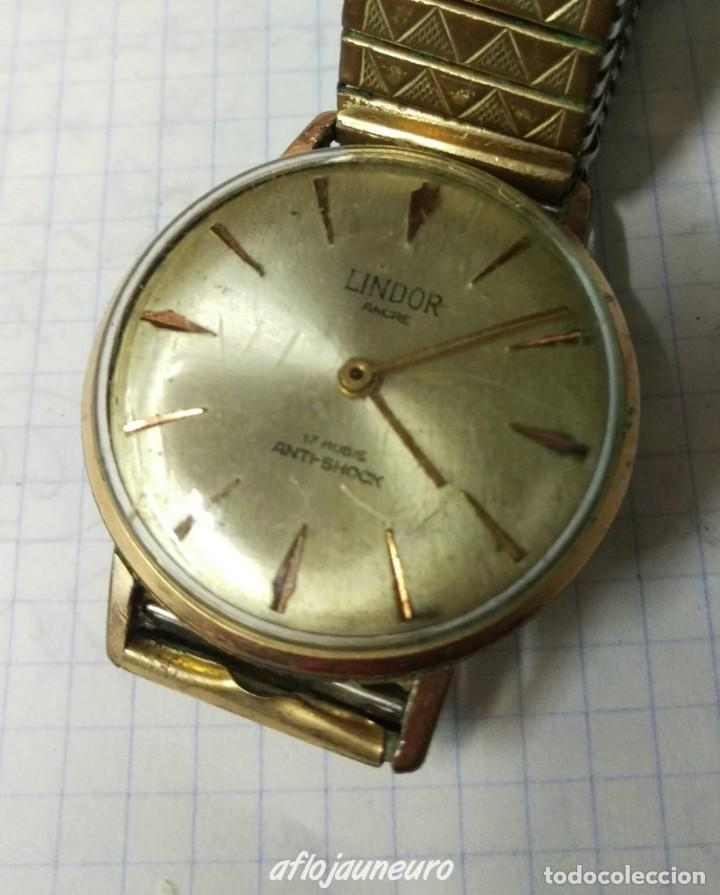 RELOJ LINDOR ANCRE 17 RUBIS ANTI-SHOCK ORIGINAL A CUERDA VER FOTOS (Relojes - Relojes Vintage )