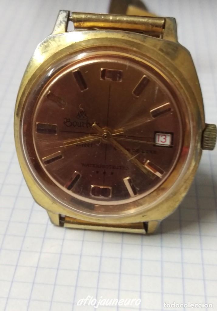 RELOJ BOURBON ORIGINAL A CUERDA SWISS MADE VER FOTOS - RARO (Relojes - Relojes Vintage )