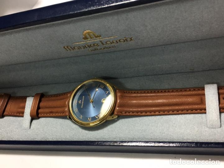 Vintage: Reloj Maurice Lacroix chapado oro vintage muy elegante con caja como nuevo maquina Swiss made - Foto 9 - 150793813