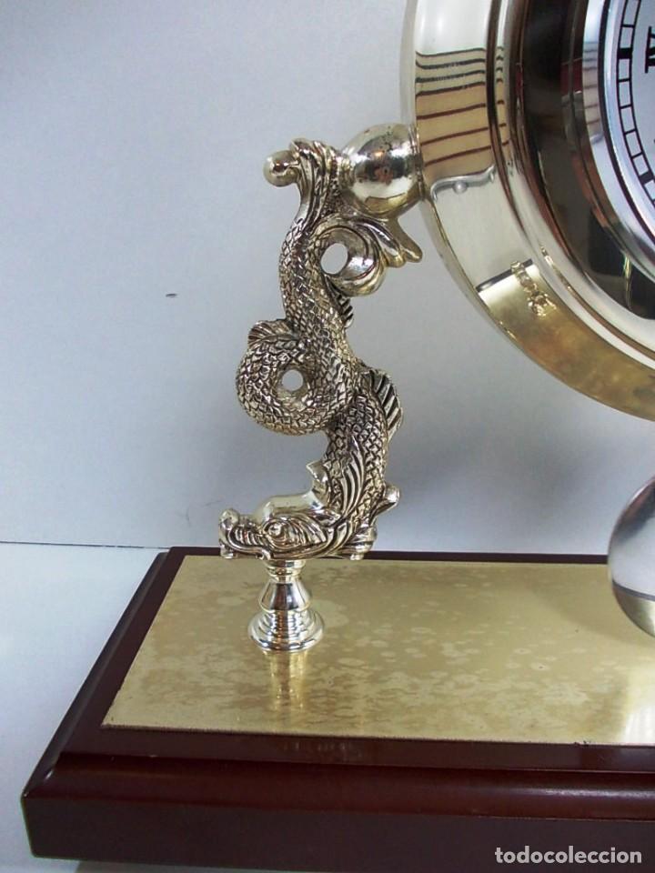 Vintage: Precioso reloj baño plata de sobremesa funcionando - Foto 4 - 150816706