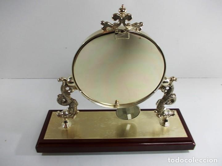 Vintage: Precioso reloj baño plata de sobremesa funcionando - Foto 7 - 150816706