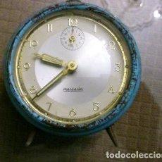 Vintage: RELOJ DE MESA MARCA MERCEDES. FUNCIONA PERFECTAMENTE. Lote 151053386