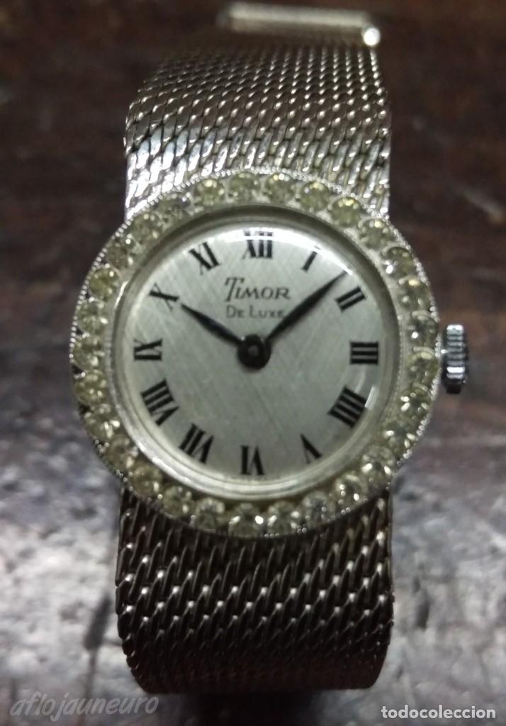 RELOJ SEÑORA MARCA TIMOR DE LUXE. SUIZO POCO USO VER FOTOS (Relojes - Relojes Vintage )