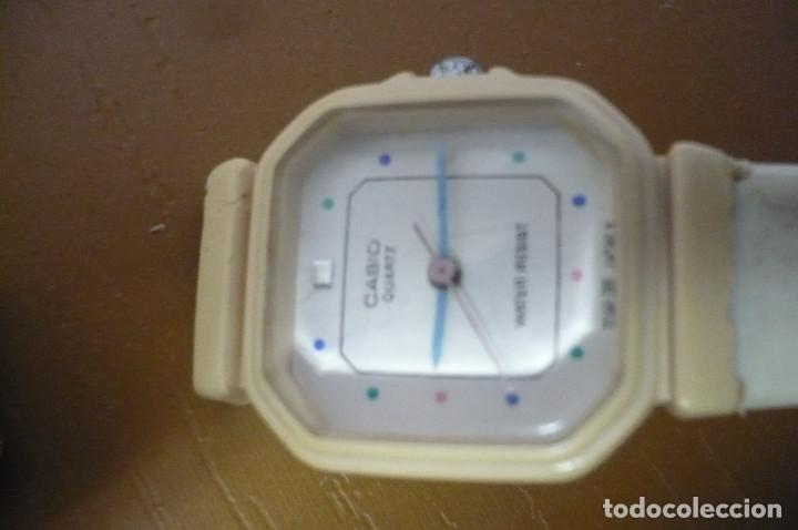 Vintage: reloj casio juvenil color marfil - Foto 2 - 153827162