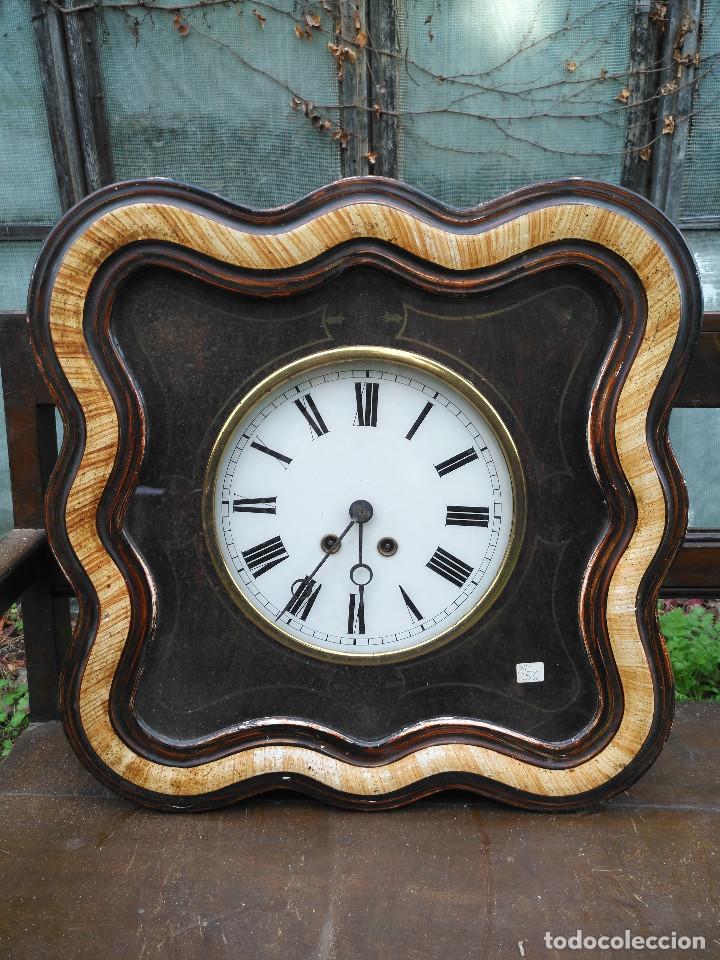 RELOJ ISABELINO CON MARQUETERÍA (Relojes - Relojes Vintage )