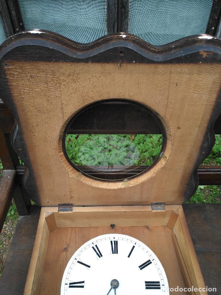 Vintage: Reloj isabelino con marquetería - Foto 2 - 154022714