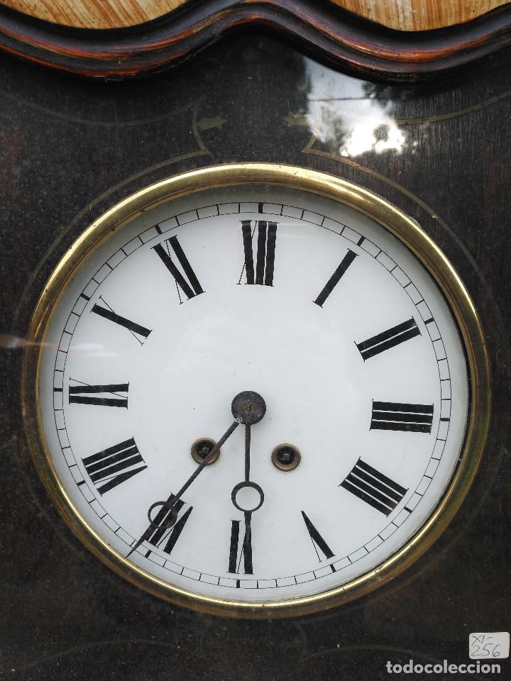 Vintage: Reloj isabelino con marquetería - Foto 3 - 154022714